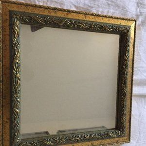 Carved Wood Frame  With Mirror